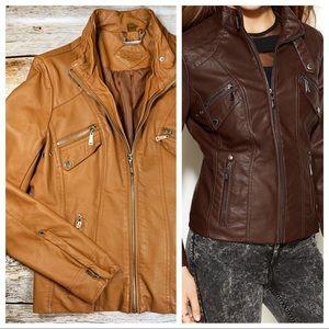 ✨Jou Jou Faux Leather Moto Jacket